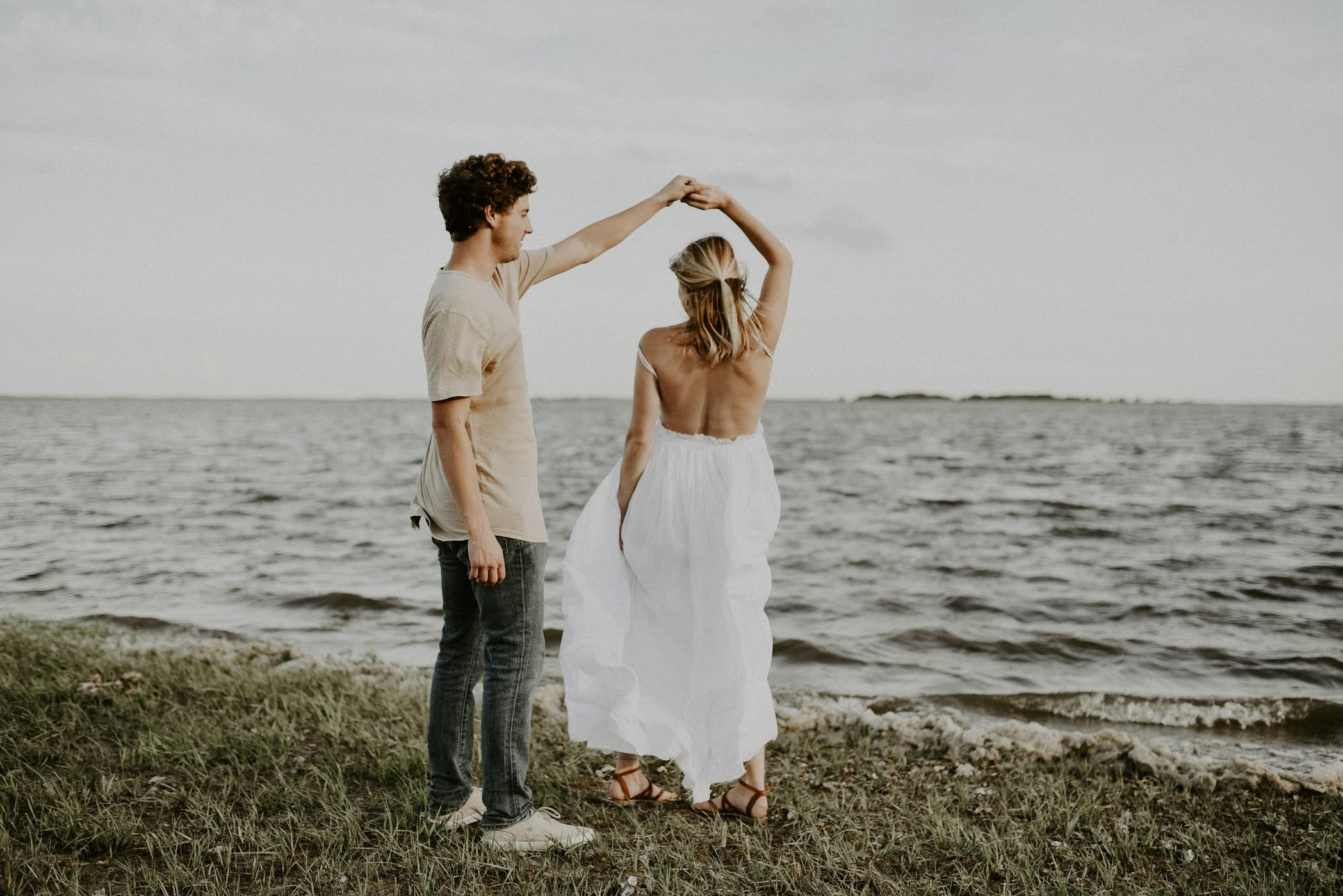 a couple dancing at Fort Fisher