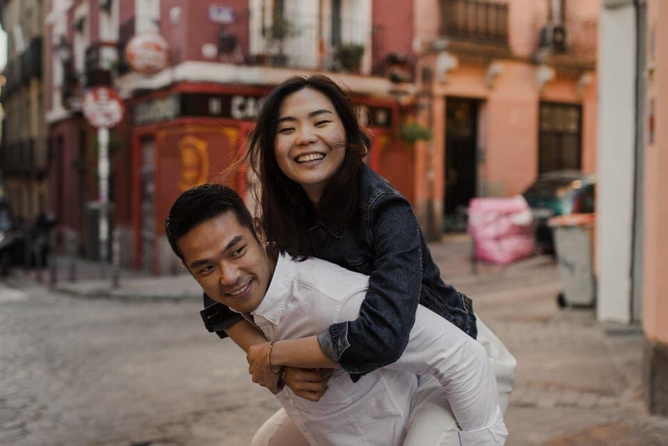 Madrid engagement photos