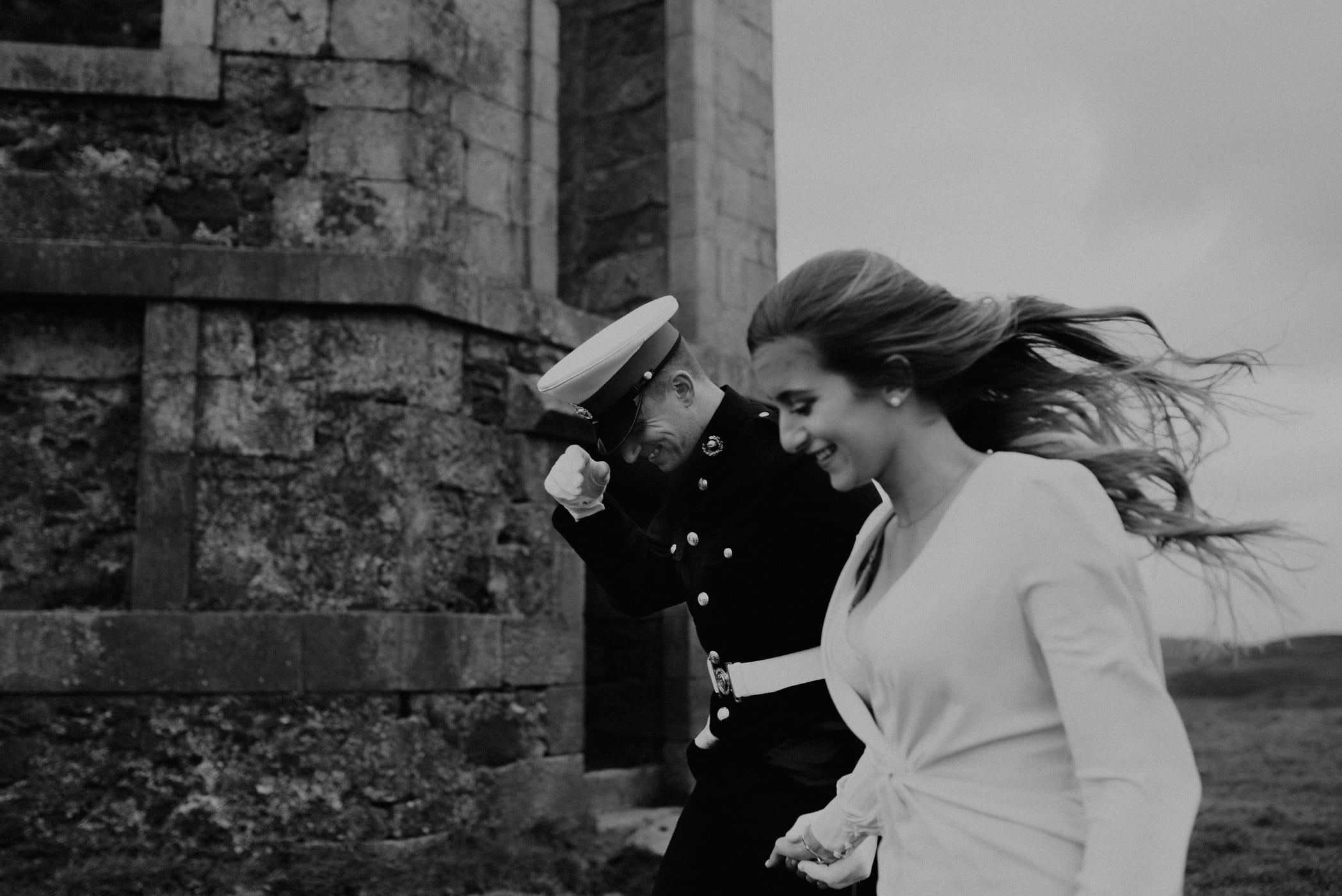 a royal marine and his girlfriend in scotland