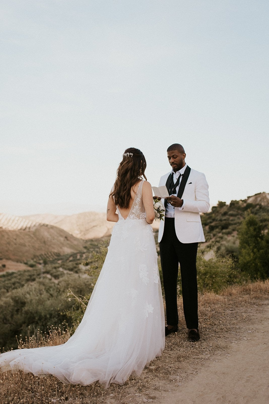 A couple saying their vows