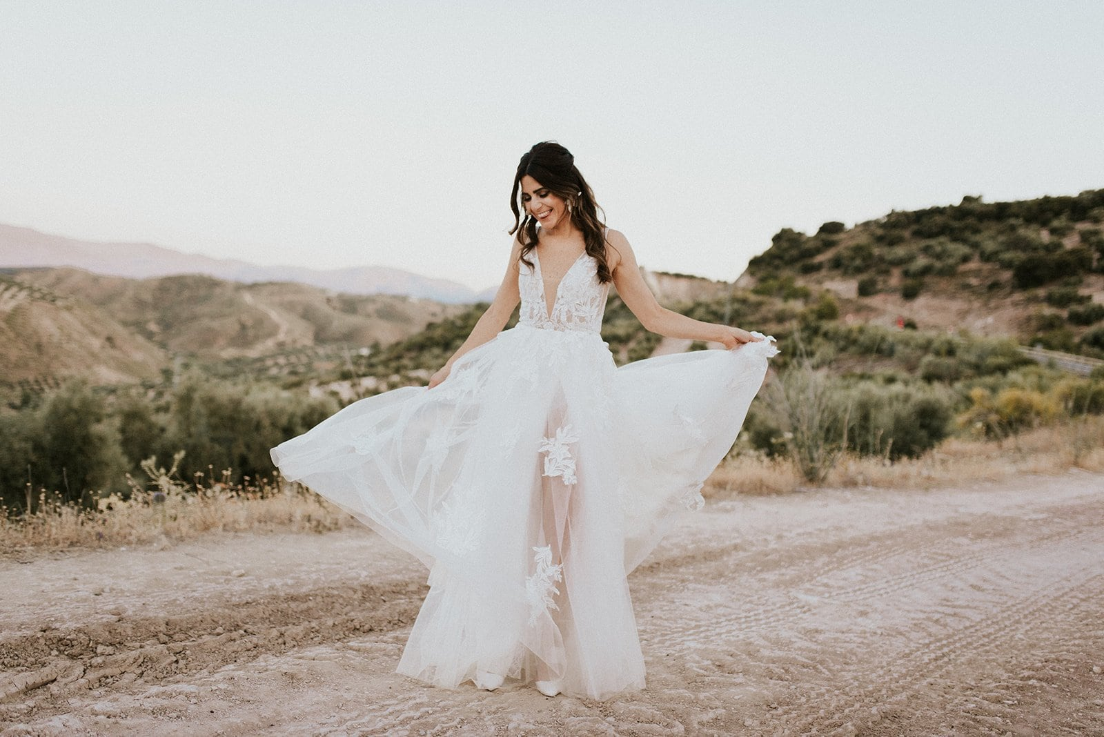 bridal portrait in spain