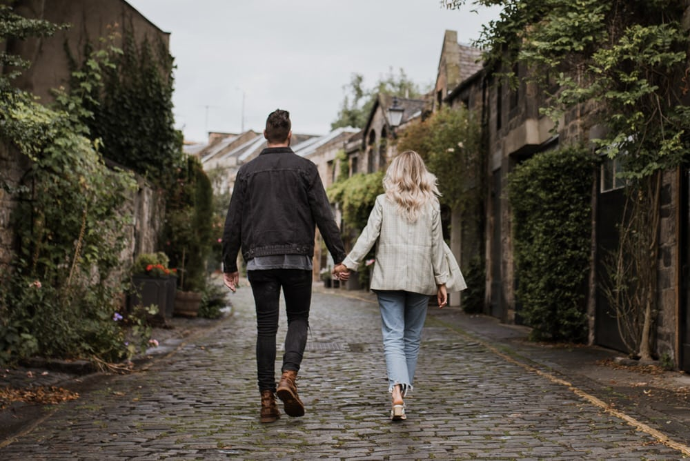 Circus Lane and Dean Village Couple Session