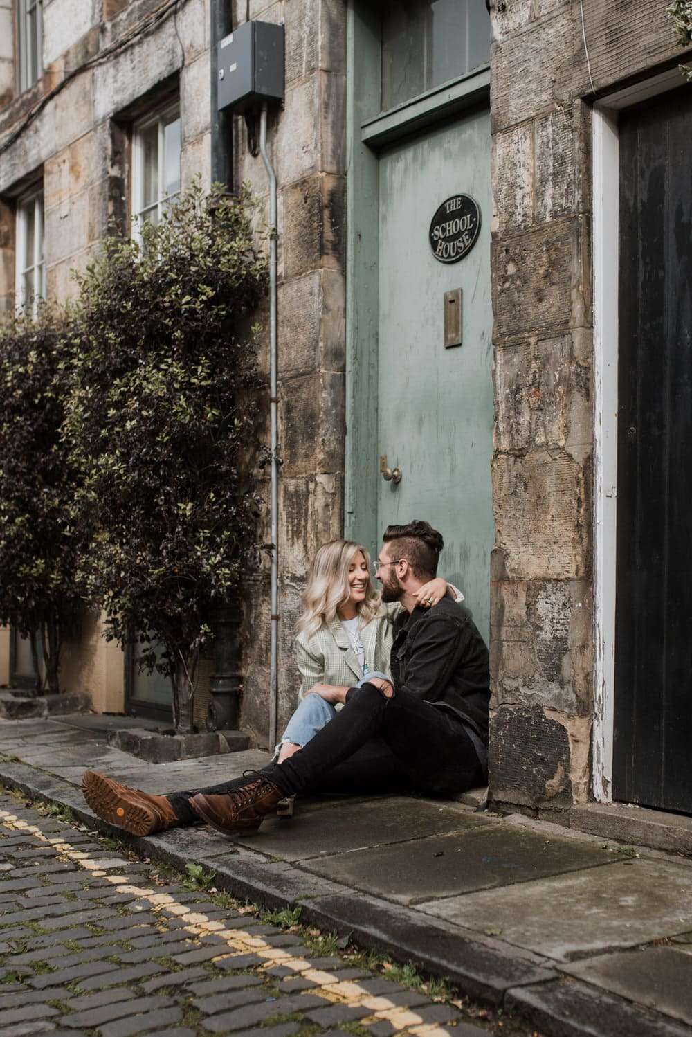 a couple sitting in circus lane