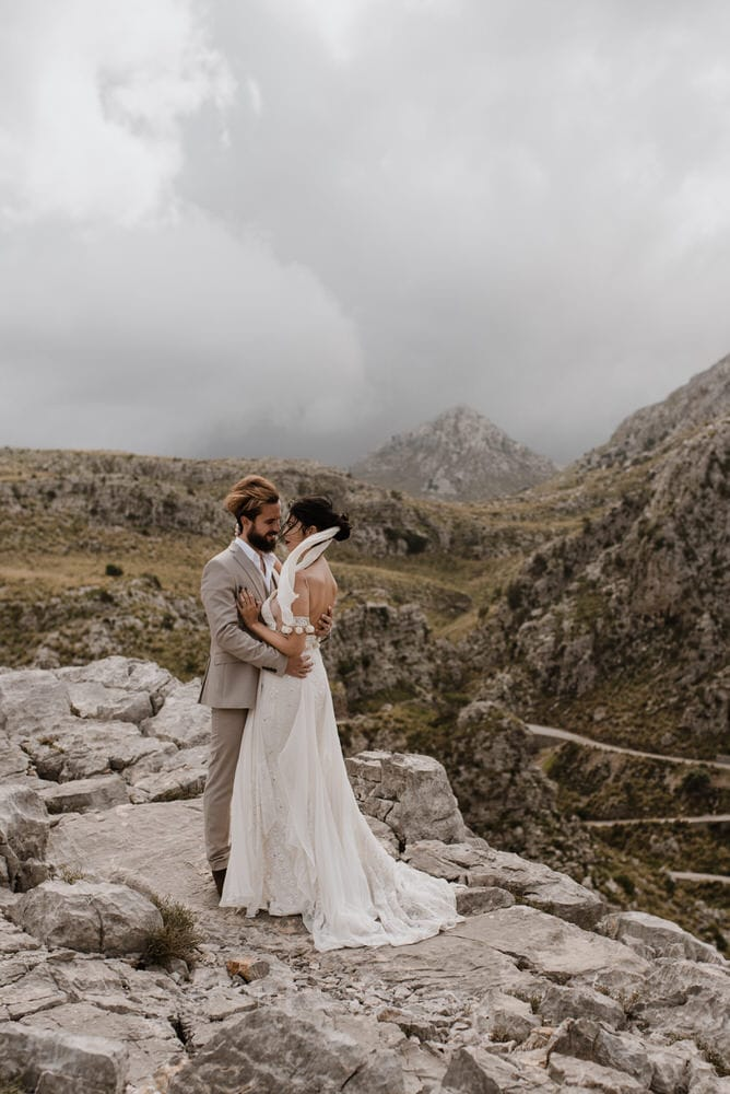 a couple in the mountains