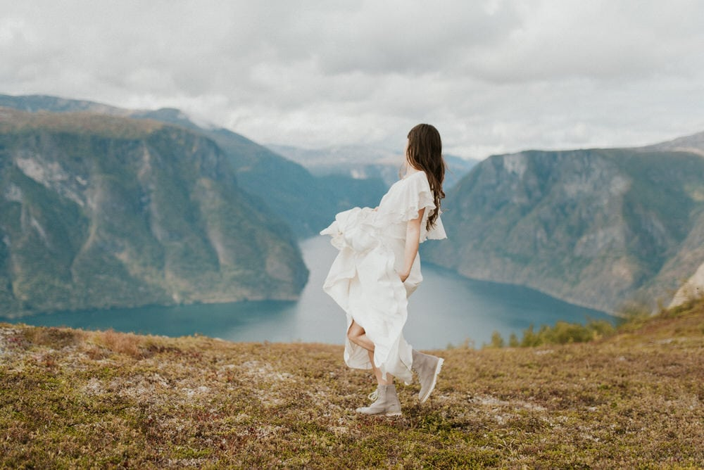 bridal portraits in Norway