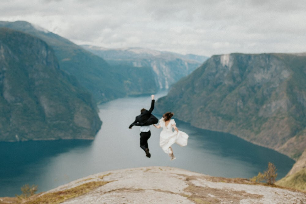 a couple getting married in Norway