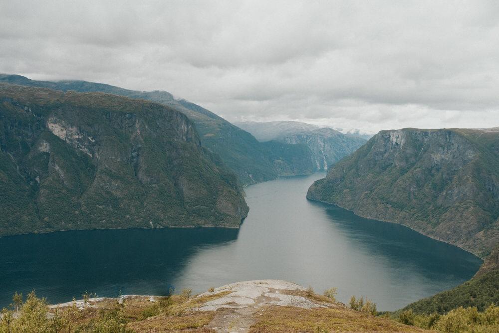 Aurland fjord in Norway