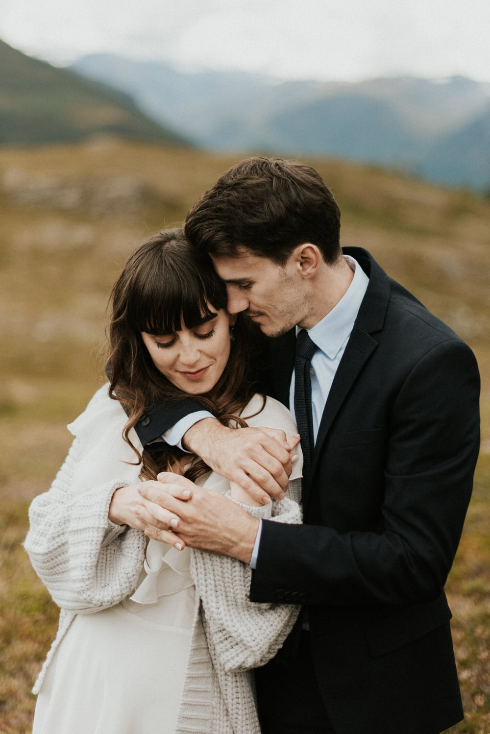 outdoor elopement in Norway fjords