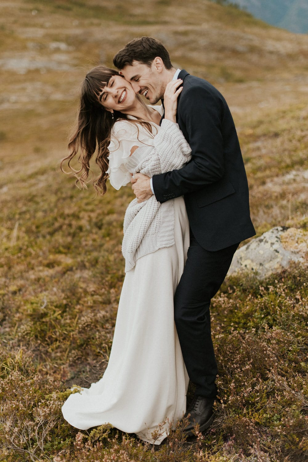 adventurous norway elopement fun wedding day pictures