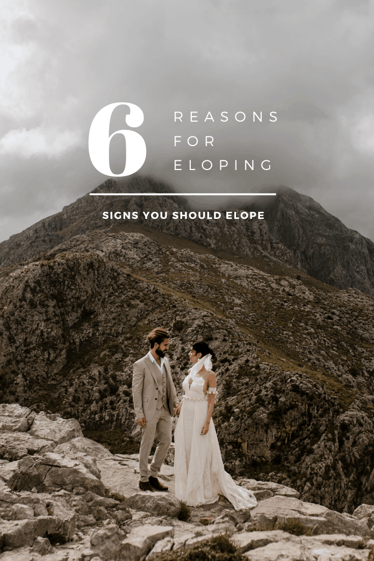 6 reasons for eloping. Adventurous couple eloping in Europe