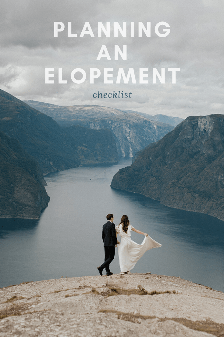 Planning an elopement - a checklist to guide you through elopement planning
