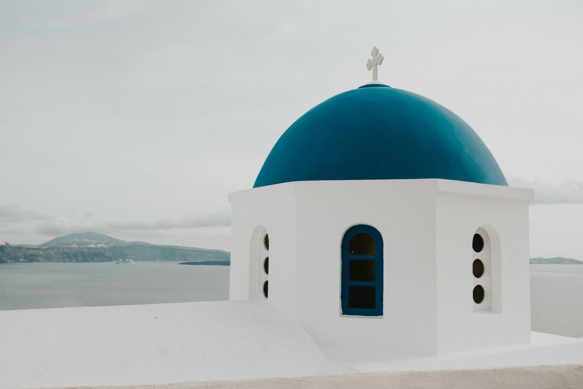 Blue Rooftop in Oia Santorini Greece Wedding