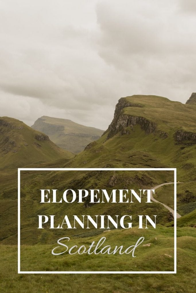 Scotland elopement planning guide