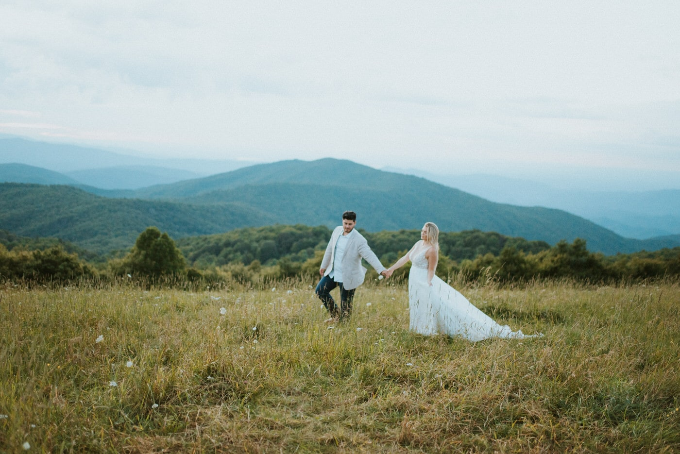 getting married in Asheville mountains